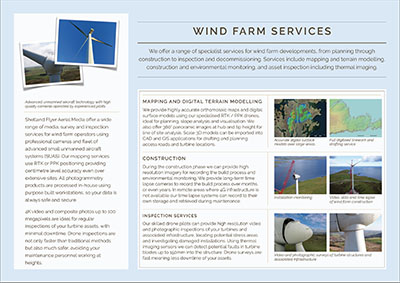 Windfarm brochure