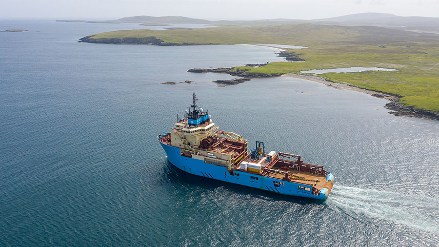 Aerial photograph of Maersk Lifter