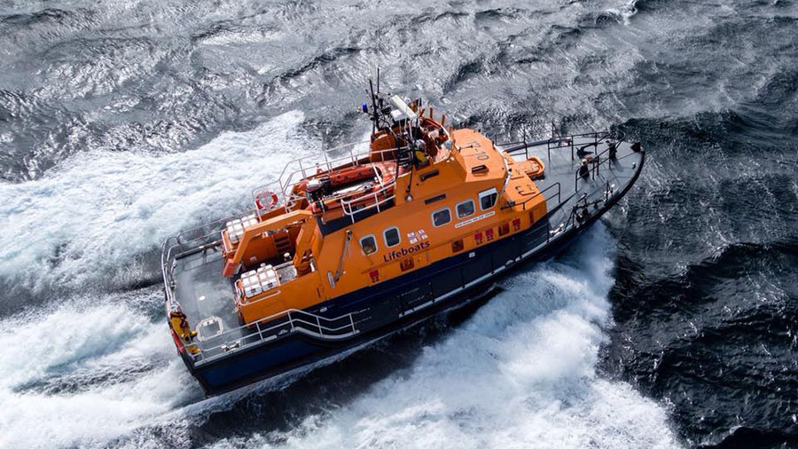 Aerial photograph of the Lerwick Lifeboat