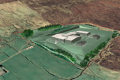 Artists impression of the completed HVDC converter station