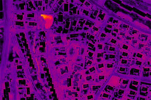 Example of a thermal map